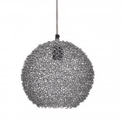 Runde Metall Deckenlampe grau Scoop