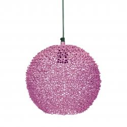 Runde Metall Deckenlampe pink Scoop