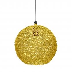 Runde Metall Deckenlampe gelb Scoop