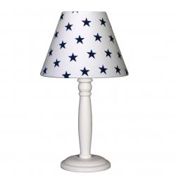 Nachttischlampe Sterne dunkelblau/weiß