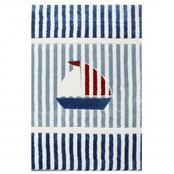 Maritimer Kinderteppich Seegelboot