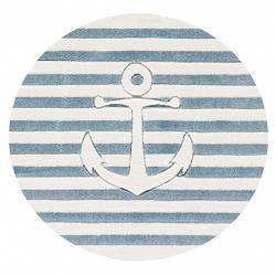 Runder Kinderteppich maritim
