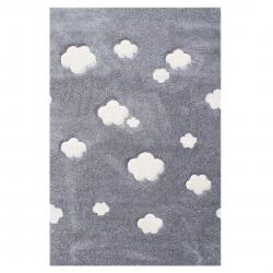 Kinderteppich Wolken grau