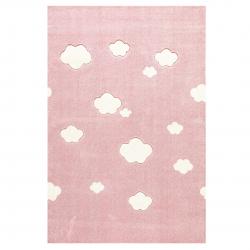 Kinderteppich Wolken rosa