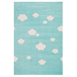 Kinderteppich Wolken mint