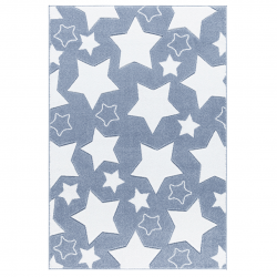 Kinderteppich Sky blau-weiß