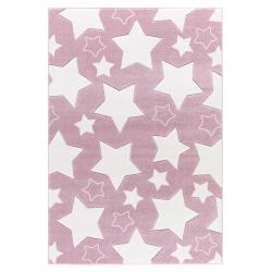 Kinderteppich Sky rosa-weiß