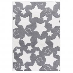 Kinderteppich Sky grau-weiß