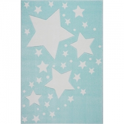 Kinderteppich Sterne mint