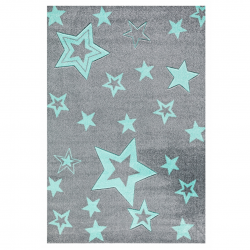 Kinderteppich Starlight  grau/mint