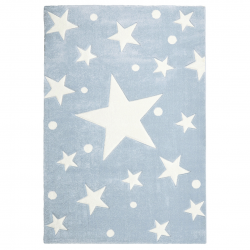 Kinderteppich Stars hellblau
