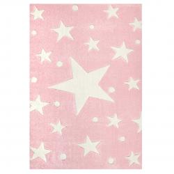 Kinderteppich Stars rosa