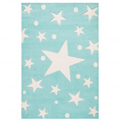 Kinderteppich Stars mint