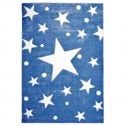 Kinderteppich Stars navy blau