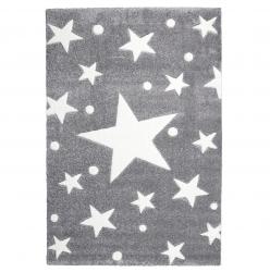 Kinderteppich Stars grau/weiß