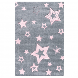Kinderteppich Starlight  grau/rosa