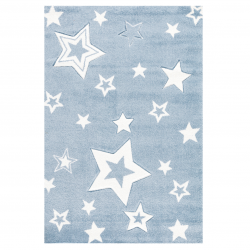 Kinderteppich Starlight  blau/weiß