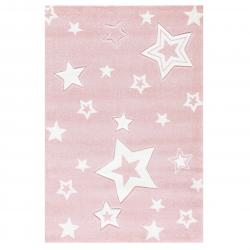 Kinderteppich Starlight  rosa/weiß