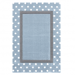 Kinderteppich Point blau/grau