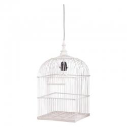 Deckenlampe Vogelkäfig weiß