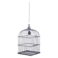 Deckenlampe Vogelkäfig grau