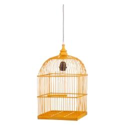 Deckenlampe Vogelkäfig gelb