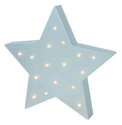 LED Lampe Stern grau