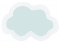 Wandspiegel Wolke
