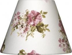 Lampenschirm weiß Rosen