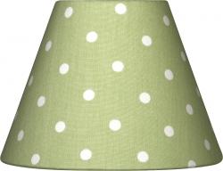 Lampenschirm Punkte grün