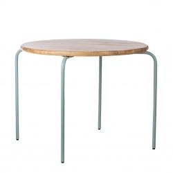 Kindertisch Holz Metall grün