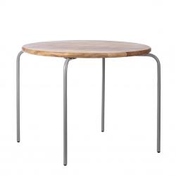 Kindertisch Holz Metall grau