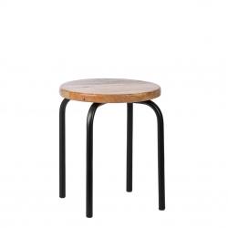 Kinderhocker Holz Metall schwarz 2er Set