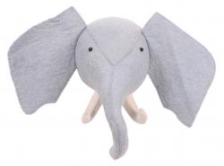 Tierkopf-Trophäe Elefant grau
