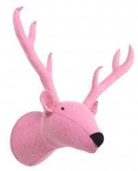 Tierkopf-Trophäe Rentier rosa