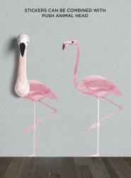 Wandsticker Flamingo Wild & Soft