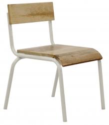Kinderstuhl 2er Set Holz Metall weiß