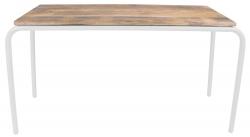 Kinderschreibtisch/Spieltisch Holz Metall weiß