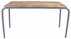 Kinderschreibtisch/Spieltisch Holz Metall grau