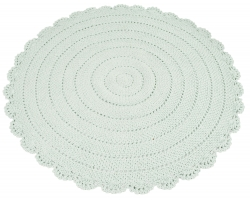 Teppich Häkeloptik mint