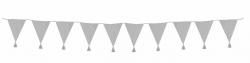 Wimpelkette grau mit Quasten