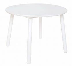 Holz Kindertisch rund weiß