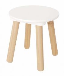 Holz Kinderhocker rund weiß