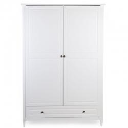 Childehome Kleiderschrank Hampton weiß 2türig
