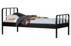 Wood Metall Kinderbett Mees schwarz 90x200