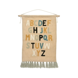 Baumwoll-Wanddeko Alphabet