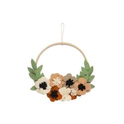 Wanddeko Flower Hoop Blumenkranz