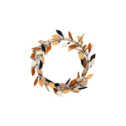 Wanddeko Flower Hoop Blätterkranz
