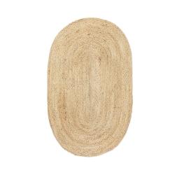 Jute Teppich oval
