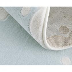 Runder Kinderteppich Krone hellblau